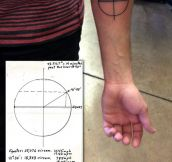 Geometric Earth tattoo…