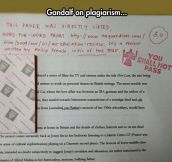 This is what you get when your teacher is a Tolkien fan…