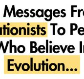 Messages from Creationists to people who believe in evolution…