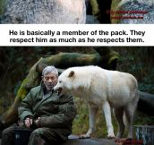 He's part of the wolfpack for real…