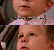 Little boy talking about heaven…