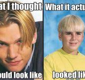 90′s hair cuts…