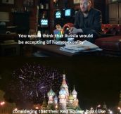 Charlie Brooker on Russian homophobia…