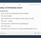 Christmas dinner with the family…