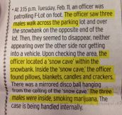 The best police story I have seen at my University…