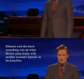 This is the darkest humor I've ever heard on Conan…