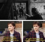 Daniel Radcliffe talks about filming the penultimate Harry Potter film…