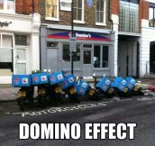 Dominoes on the street…