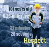 Respect to Fauja Singh…