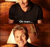 Gordon Ramsay joking around…