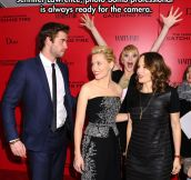 Photobomb level: Jennifer Lawrence…