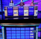 The most awkward Jeopardy board ever…