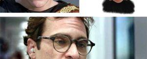 Joaquin Phoenix with a mustache…