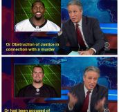 Jon Stewart on the brewing Michael Sam controversy…