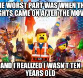 The worst part of the Lego movie…