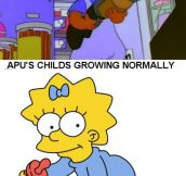 How time passes on the Simpsons…