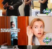 When you talk about The Sims in public…