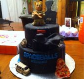 Spaceballs the cake! The kids just love this one…