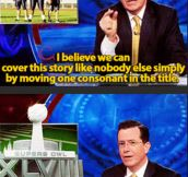 Stephen Colbert avoids being sued by the NFL…