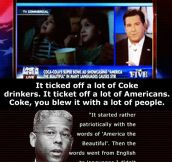Insane people get angry about the Coke ad…