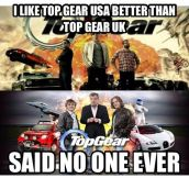 Top Gear UK vs. Top Gear USA…