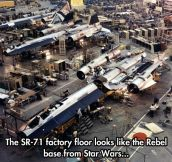 Star Wars' real life base…