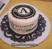 When cakes go wrong…