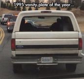 A very popular plate in 1995…