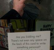 This birthday card is genius…