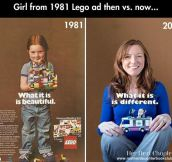 LEGO girl then and now…