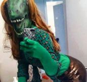 The lizard girl…