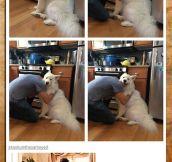 It's a hug…