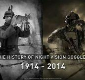 Evolution of night vision goggles…