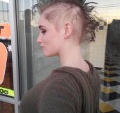 Cool Mohawk after chemo session…