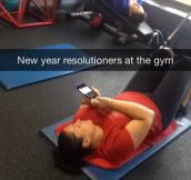 New Years' resolutions being met…