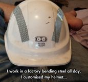 The Bender helmet…