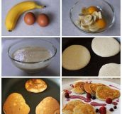 Quick and easy banana pancakes…
