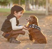 Little Han Solo and Chewie…