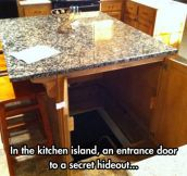 Panic room in the kitchen…