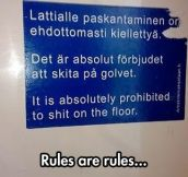 Those Finns and their rules…