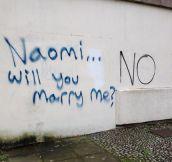 Romance is dead, then…