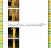 Illegally downloading a dress…