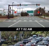 This is how traffic works every single morning…