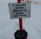 Judgmental sign…