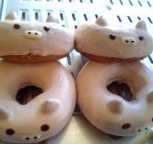 Pig shaped doughnuts…