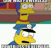 Simpsons explain America's law enforcement…