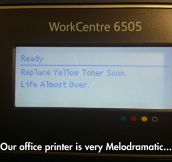 This printer clearly has the blues…