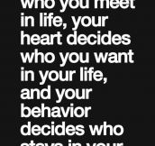 Time decides who you meet in life…