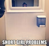 Short girl selfie…