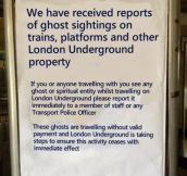 This is London for you…